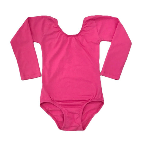 Hot Pink Leotard (long sleeve) - Morgan+Mae Co.