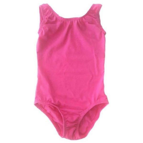 Hot Pink Sleeveless Leotard (Tank) - Morgan+Mae Co.