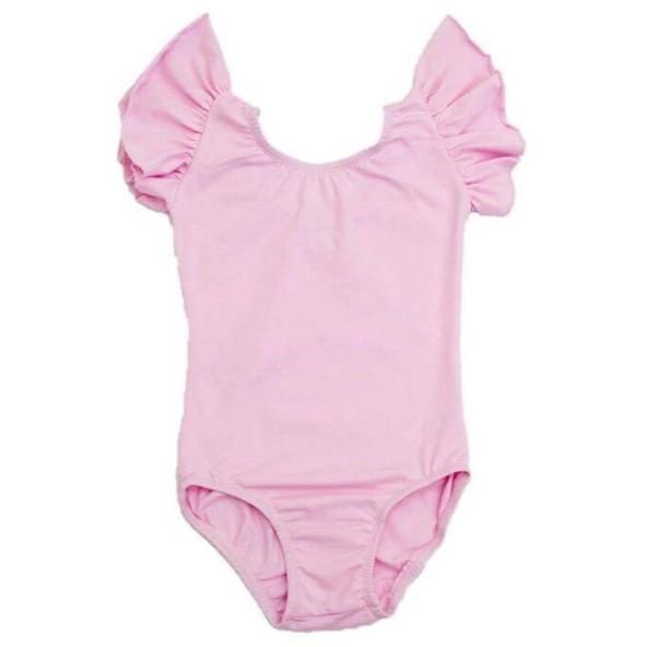 Morgan+Mae Co. Leotard Light pink Flutter Sleeve Leotard (ruffle Sleeve)