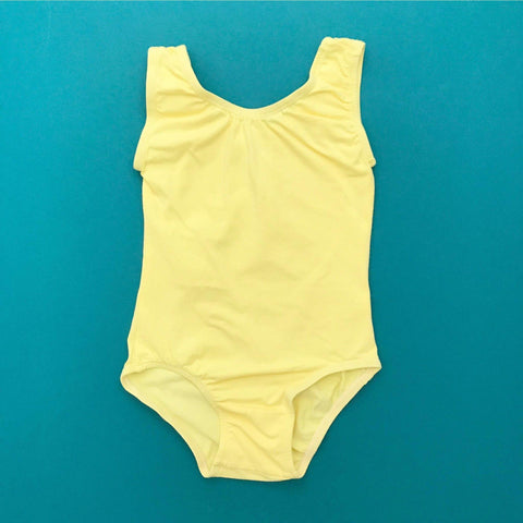 Light Yellow Sleeveless Leotard (tank) - Morgan+Mae Co.