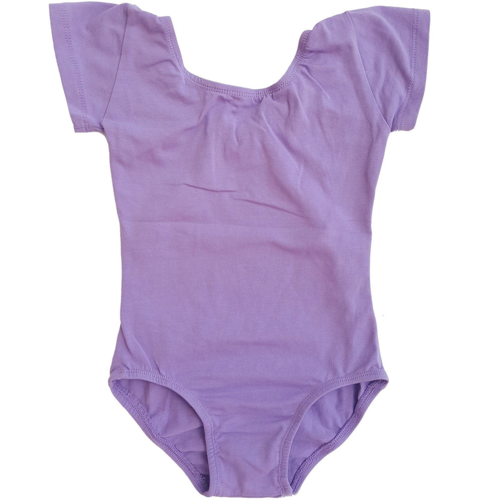 Lilac Cap Sleeve Leotard (Short Sleeve) - Morgan+Mae Co.