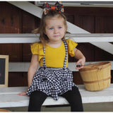 Mustard Yellow flutter sleeve leotard (Ruffle sleeve) - Morgan+Mae Co.