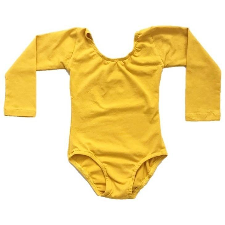 Mustard Yellow Long Sleeve Leotard