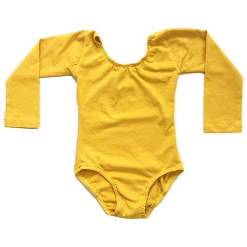 Mustard Yellow Long Sleeve Leotard - Morgan+Mae Co.