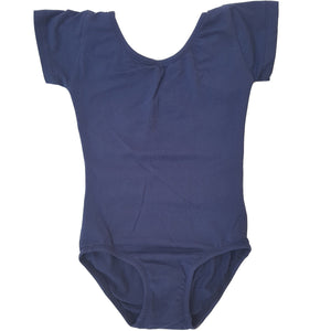 Navy Blue Cap Sleeve Leotard (Short Sleeve)