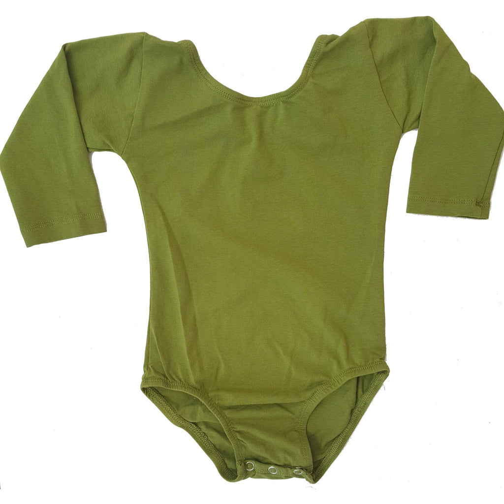 Olive Green (Long Sleeve) Leotard - Morgan+Mae Co.