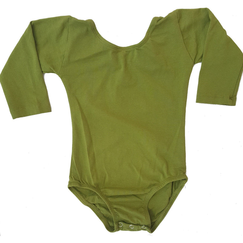 Morgan+Mae Co. Leotard Olive Green (Long Sleeve) Leotard