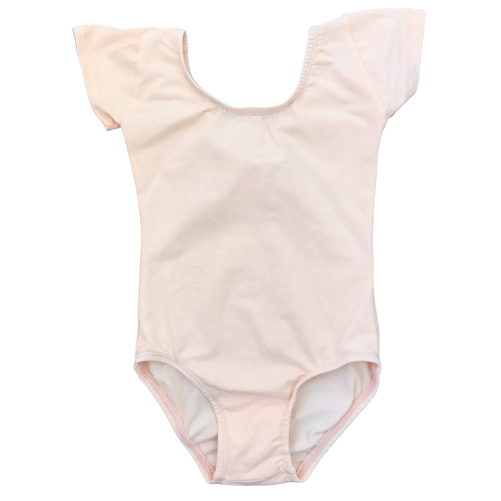 Pretty in peach - Cap Sleeve Leotard (Short Sleeve) - Morgan+Mae Co.