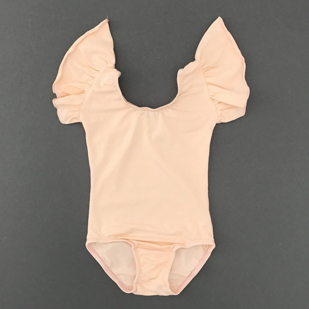 Pretty in peach - Flutter Sleeve Leotard (Ruffle Sleeve) - Morgan+Mae Co.