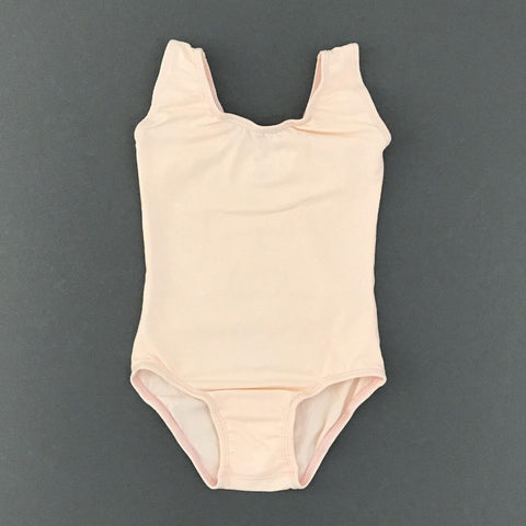 Pretty in peach - Sleeveless Leotard (Tank) - Morgan+Mae Co.