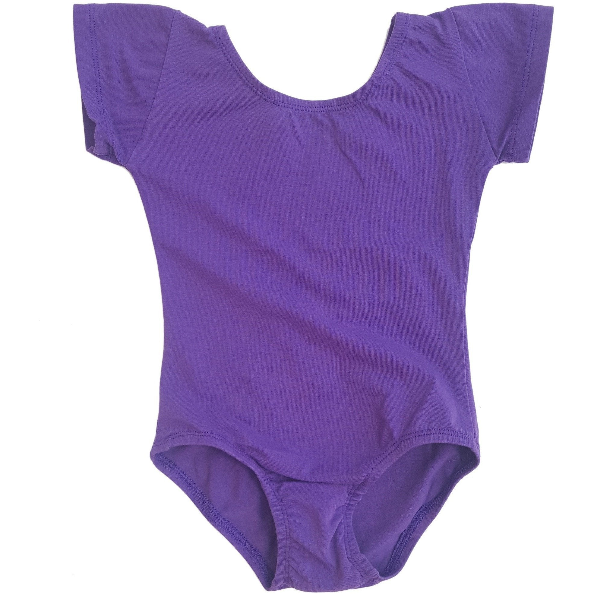 Purple Cap Sleeve Leotard (Short Sleeve)