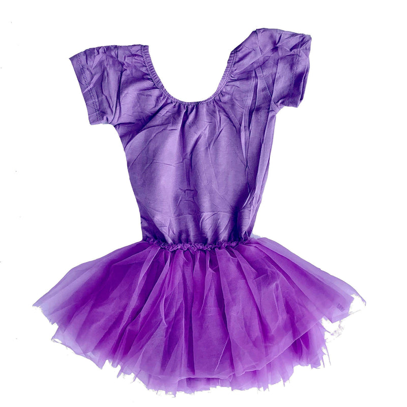 Morgan+Mae Co. Leotard Purple Cap Sleeve Tutu Dress Leotard