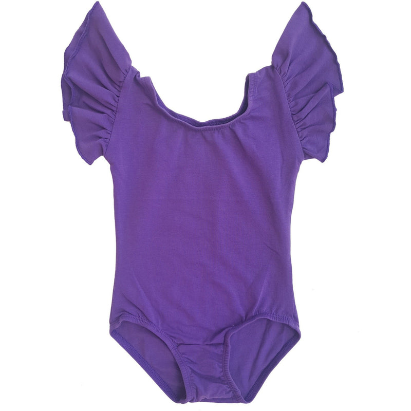 Morgan+Mae Co. Leotard Purple Flutter Sleeve Leotard (Ruffle Sleeve)