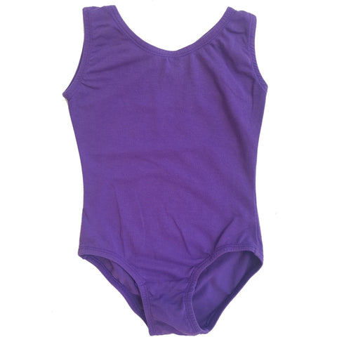 Purple Sleeveless Leotard (Tank) - Morgan+Mae Co.