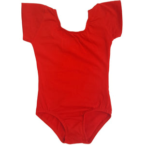 Red Cap Sleeve Leotard (Short Sleeve)