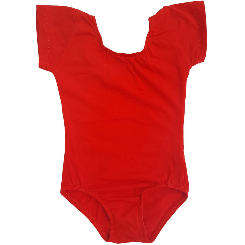 Morgan+Mae Co. Leotard Red Cap Sleeve Leotard (Short Sleeve)