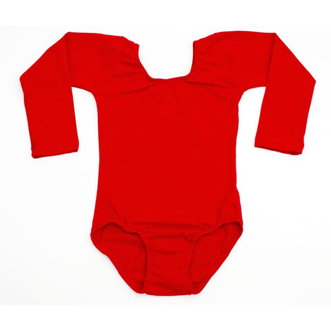 Red (Long Sleeve) Leotard - Morgan+Mae Co.
