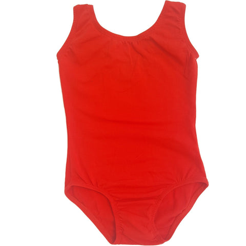 Red Sleeveless Leotard (Tank) - Morgan+Mae Co.