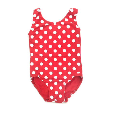 Red & White Polka Dot Sleeveless Leotard (Tank) - Morgan+Mae Co.
