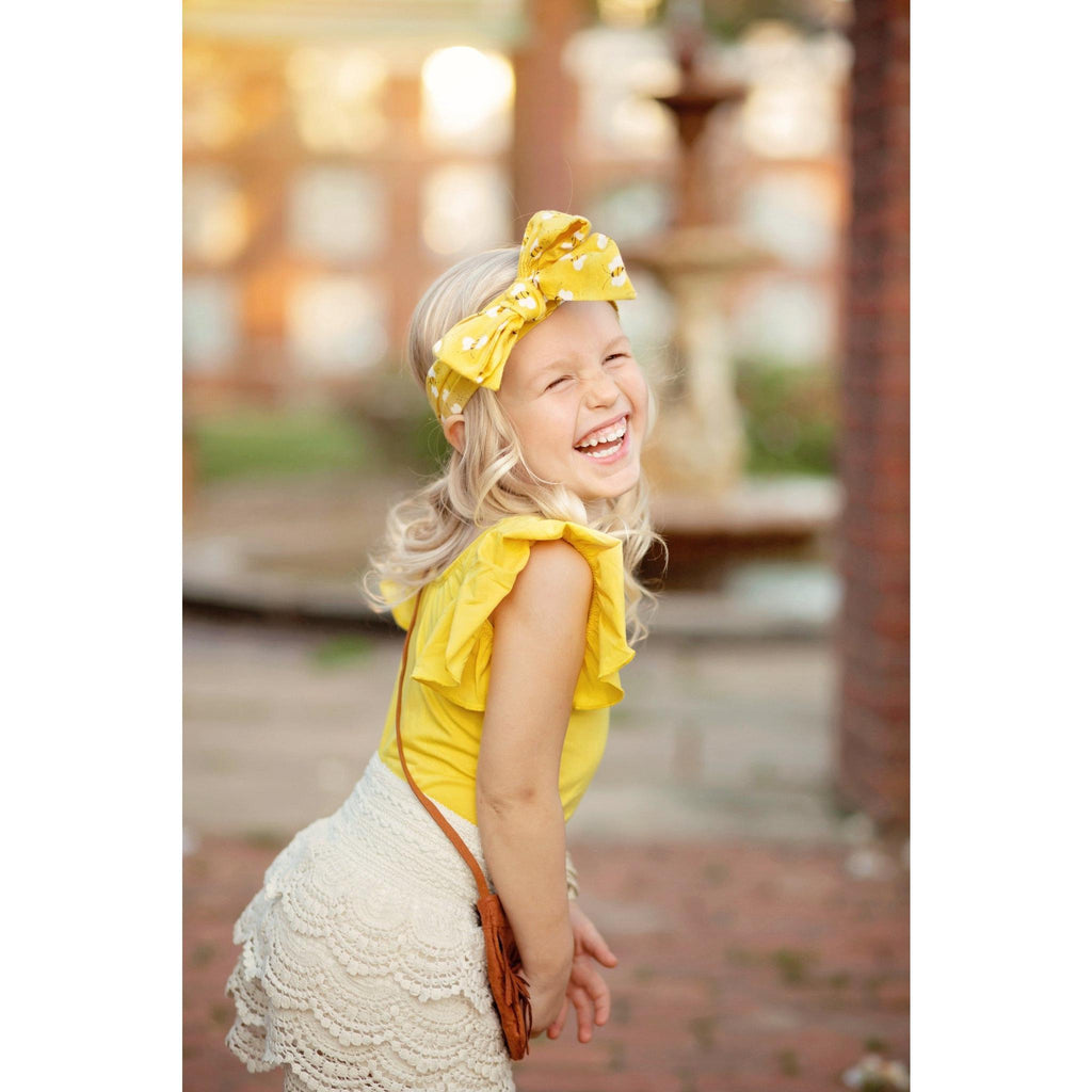 Morgan+Mae Co. Leotard Sunshine Yellow Flutter Sleeve Leotard (Ruffle Sleeve)