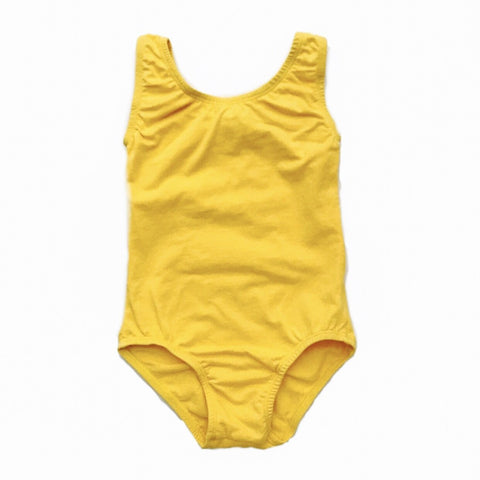 Sunshine Yellow sleeveless leotard (tank) - Morgan+Mae Co.