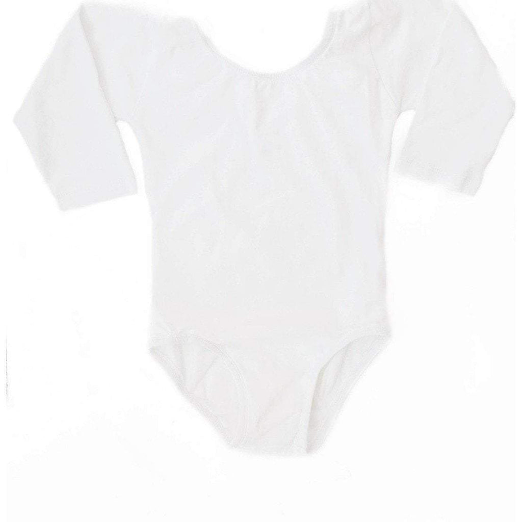 White (Long Sleeve) Leotard - Morgan+Mae Co.