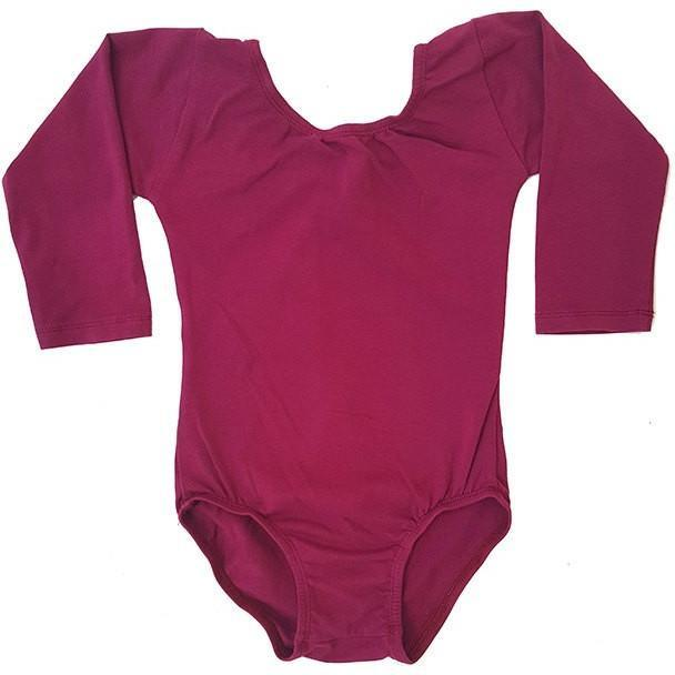 Wine/Cranberry (Long sleeve) leotard - Morgan+Mae Co.