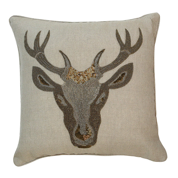 Cornamenta Embroidery Deco Pillow