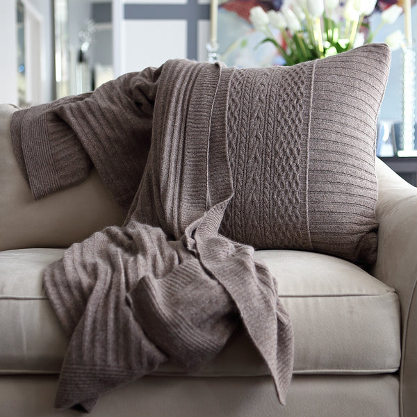 Celestial Rib Knit Deco Pillow