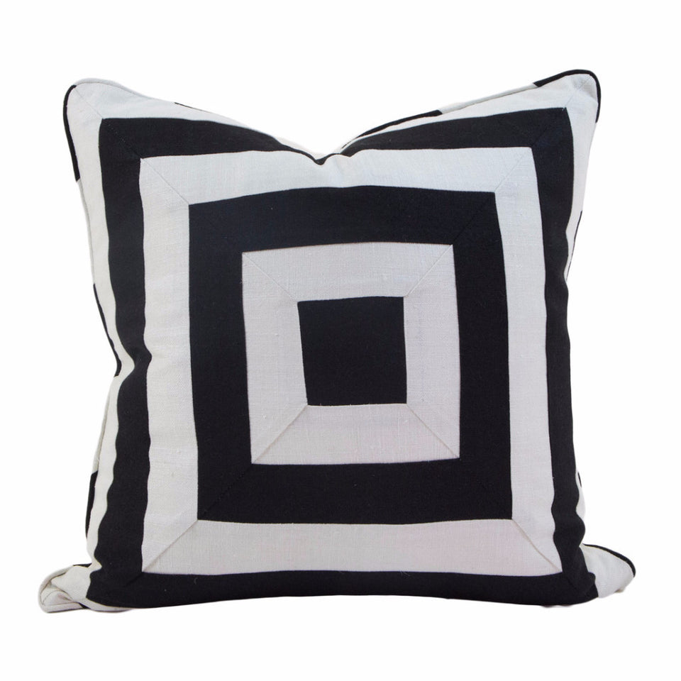 Canvas Square Band Pillow Cover