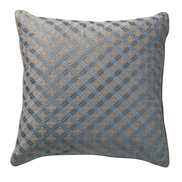 Lagoon Geometric Embroidery Deco Pillow