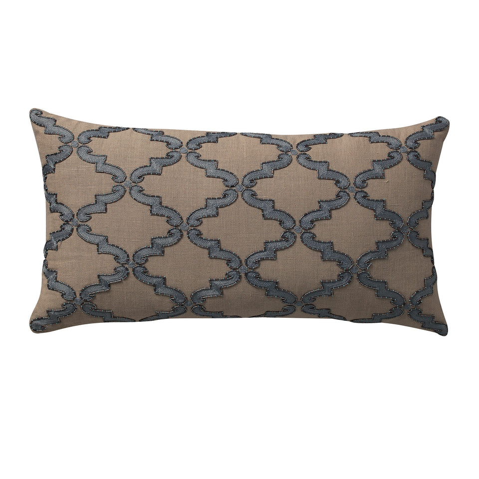 Morocco Jalli Embroidery Deco Pillow