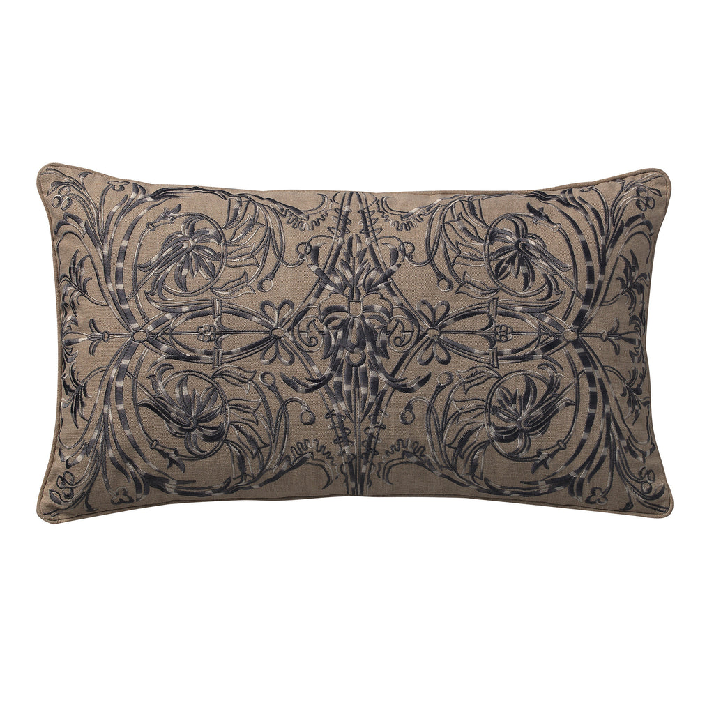 Trellis Embroidery Deco Pillow