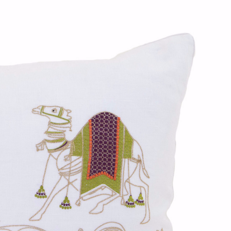 Amer Camel Embroidery Pillow Cover