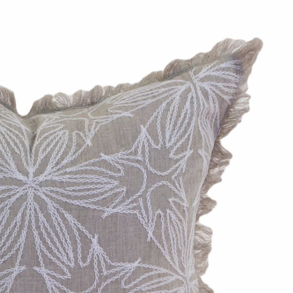 Theo Crewel Fringe Pillow Cover