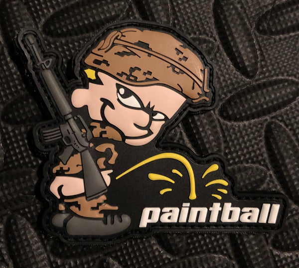 PVC Patch - Piss On Paintball (Tan)