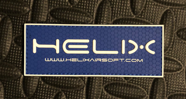 PVC Patch - Helix Airsoft Blue/White