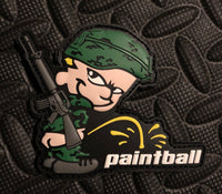PVC Patch - Piss On Paintball (Green)