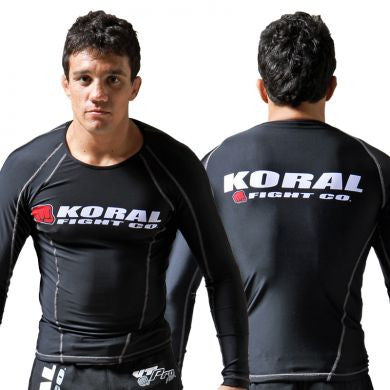 Koral Long Sleeve Rash Guard - Black