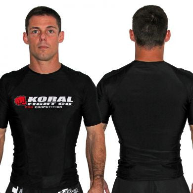 Koral Pro Comp Short Rash Guard in Black