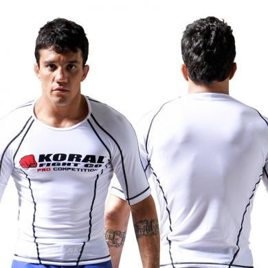 Koral Pro Comp Short Rash Guard in White