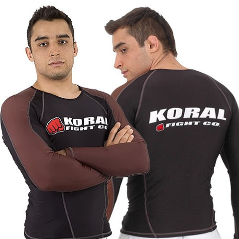 Koral Competition Rash Guard Long Sleeve - Brown