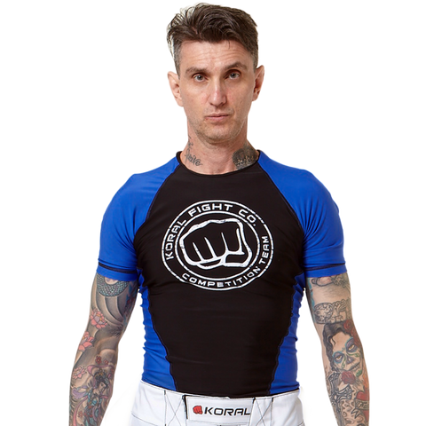 Rash Guard Competition Team Short Sleeve - Blue