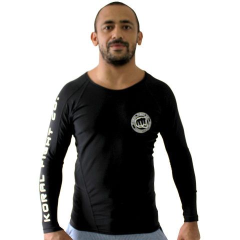 Rash Guard Competition Team Long Sleeve - Black