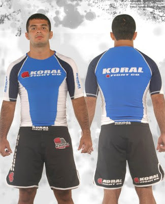 Koral Cam Rash Guard Short Sleeve - Royal