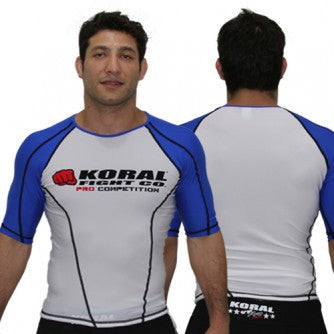 Koral Pro Comp Short Rash Guard - Blue