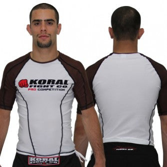 Koral Pro Comp Short Rash Guard in Brown