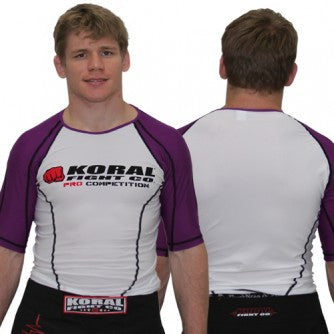 Koral Pro Comp Short Rash Guard in Purple