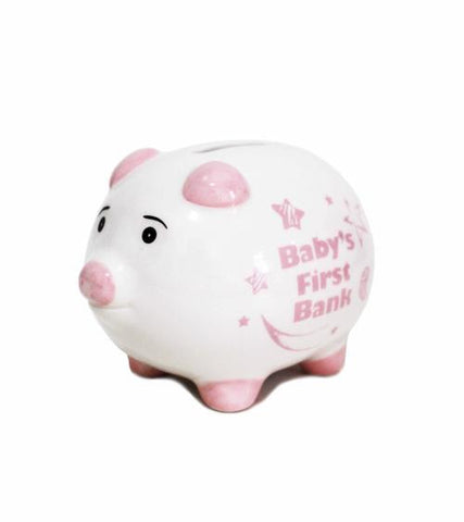 BB Baby 1st Piggy Bank Pink