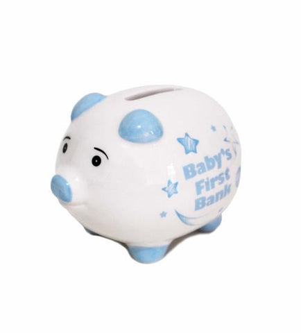BB Baby 1st Piggy Bank Blue